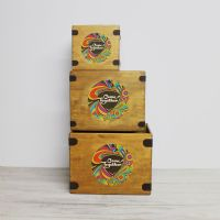 "Come Together 7"" Record Box Vintage Vinyl Crate"
